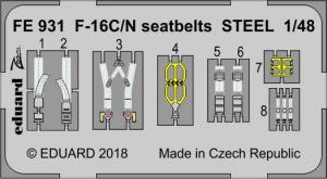 F-16C/N seatbelts STEEL TAMIYA