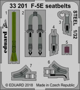 F-5E seatbelts STEEL KITTY HAWK
