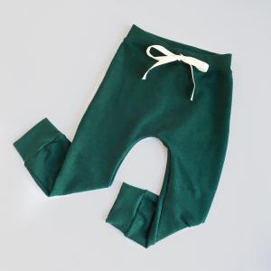 Pantalone cavallo basso verde in cotone biologico