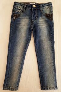 Jeans da bambina 3-8 anni con strass