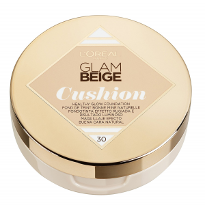 L'Oréal Paris Glam Beige Fondotinta Cushion Leggero e Luminoso, 30 Medium Light