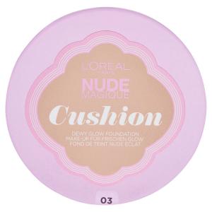 L'Oréal Paris Nude Magique Cushion Fondotinta, 03 Vanilla