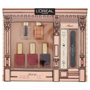 L'Oréal Paris Edizione Limitata Lost in Paradise Cofanetto Idea Regalo con 5 Smalti Colore ad Olio e Limetta per Unghie
