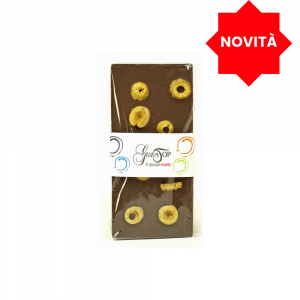 61% dark chocolate bar with green olives, 100 gr