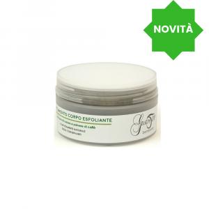 Crema trattamento corpo esfoliante, con burro di cacao e polvere di caffè, confezione 200 ml