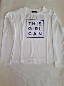 maglia bianca da bambina 8 -16 anni con scritte