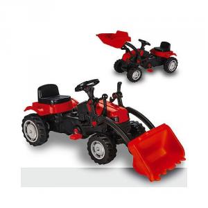 Trattore giocattolo a pedali per bambini con pala scavatrice, Biemme