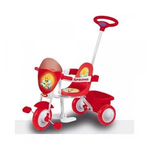 Triciclo da spingere per bambini Spring Colore ROSSO Biemme