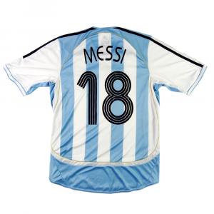 2005-07 Argentina Maglia Home M #18 Messi (Top)