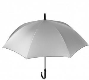 Ombrello da uomo automatico con doppio tessuto argento e blu cm.diam.116
