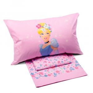 Set lenzuola Caleffi piazza e mezza Disney PRINCESS Romantica rosa