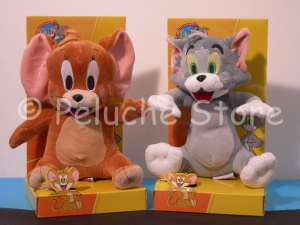 Tom & Jerry peluche 25 cm velluto in blister Nuovo Originale