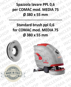 MEDIA 75 spazzola lavare PPL 0,6 per lavapavimenti COMAC