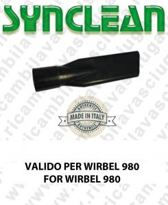 Accessori Aspirapolvere Lancia Piatta  valida per kit da Ø 40 NERO  Valido per aspirapolvere WIRBEL 980