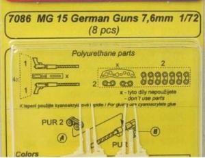 MG15 - German guns WW II ( 8 pcs. )