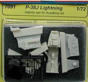 P-38J lightning - interior set for ACADEMY