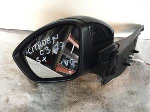 Retrovisore specchietto esterno elettrico sinistro sx usato originale Citroen c3 2016>