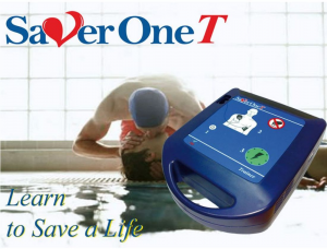 Defibrillatore Trainer SAVER ONE T