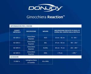 DONJOY Knee Reaction™ ginocchiera a elastomeri