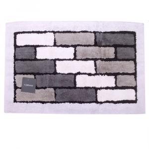 Tappeto da bagno in spugna di cotone 70x110 cm Carrara VIENNA grigio