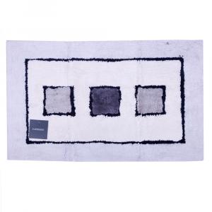 Tappeto da bagno in spugna di cotone 70x110 cm Carrara LINZ grigio