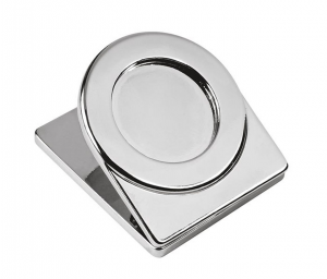 Fermacarte in metallo lucido con incavo cm.4,6x4x2,5h