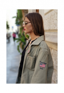 GIACCA DONNA VINTAGE ANNI 90 COLORE VERDE MILITARE TOMMY HILFIGER