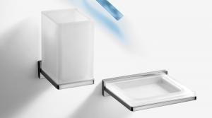 Porta bicchiere per il bagno serie Look Colombo design