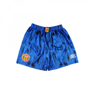 1992-93 Manchester United Pantaloncini Away M