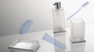 Porta bicchiere da appoggio per il bagno serie Look Colombo design