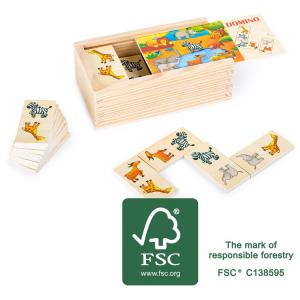 Domino in legno Safari Legler