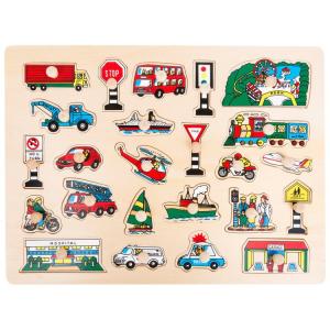 Puzzle in legno per bambini Divertimento urbano