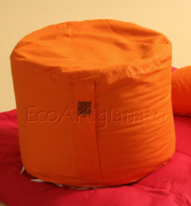 Cuscino Meditazione Rotondo (Zafu) Con Pula Di Farro Biologica