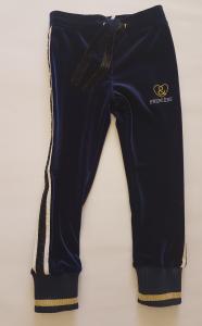 Pantalone in ciniglia blu da bambina 3-12 anni