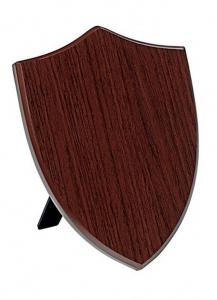 Crest scudo legno noce MDF cm.10x1,5x15h
