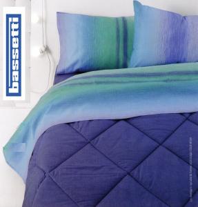 Set lenzuola singolo una piazza BASSETTI Dream CLUSIA blu