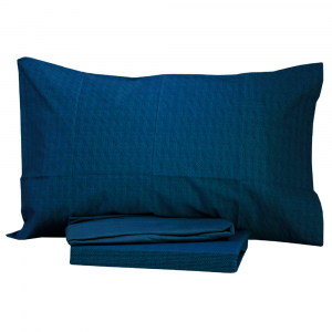 Set lenzuola singolo una piazza BASSETTI Dream BETH blu