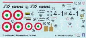 F-104S ASA 4 Stormo Caccia '70 Anni'
