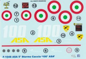 F-104S ASA '100 ASA' 5 Stormo Caccia