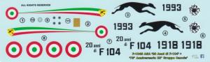 F-104S ASA '75 Anniversario 23 Gruppo Caccia' 5 Stormo Caccia