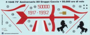 F-104S '75 Anniversario XII Gruppo Caccia + 50.000 ore di volo' 36 Stormo Caccia