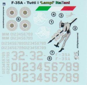 F-35A Tutti i 'LAMPI' ITALIANI