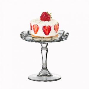 Alzata in vetro mini pasticceria  per dolci e frutta cm.10,8h diam.11