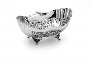 Ciotola ovale stile cesellato argentato argento sheffield cm.48x30x16h