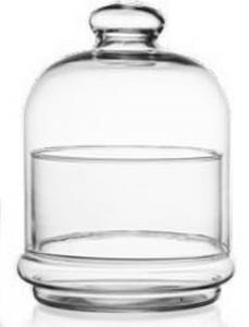 Portaconfetti con campana in vetro cm.15h diam.12