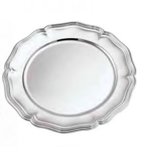 Sottopiatto argentato argento stile 700 cm.diam.32