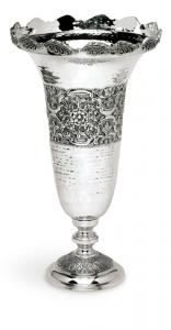 Vaso Fiori in Sheffield stile cesellato cm.49h diam.27,5