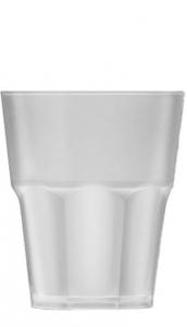 Bicchiere plastica acrilico satinato effetto ghiaccio ml 100 cm.10h diam.8,3