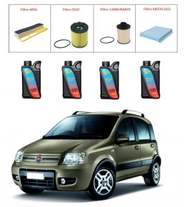 Kit tagliando per Fiat Panda 1.3 Multijet PREMIUM QUALITY imp. Purflux