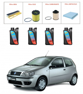 Kit tagliando per Fiat Punto 1.3 Multijet PREMIUM QUALITY imp. Purflux
